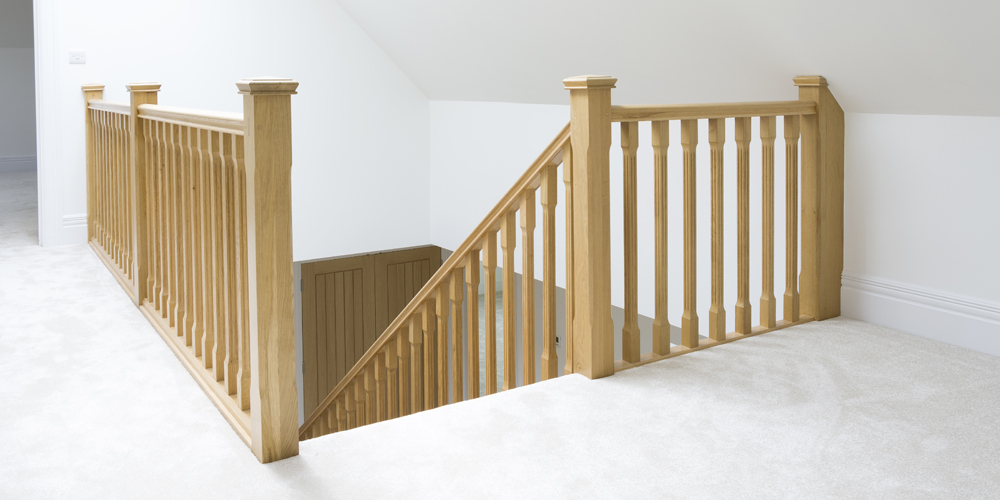 loft conversion stairs in oak