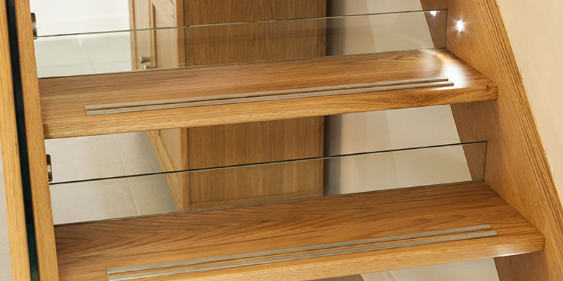 Bespoke loft conversion staircase with open riser